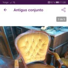 Antigüedades: PAREJA DE SILLONES. Lote 171161627