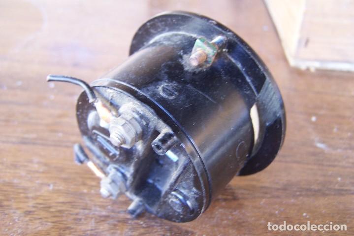 Antigüedades: amperimetro de baquelita empotrable - Foto 2 - 171166347