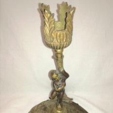 Antigüedades: ANTIGUO CANDELABRO BRONCE.. Lote 171184232