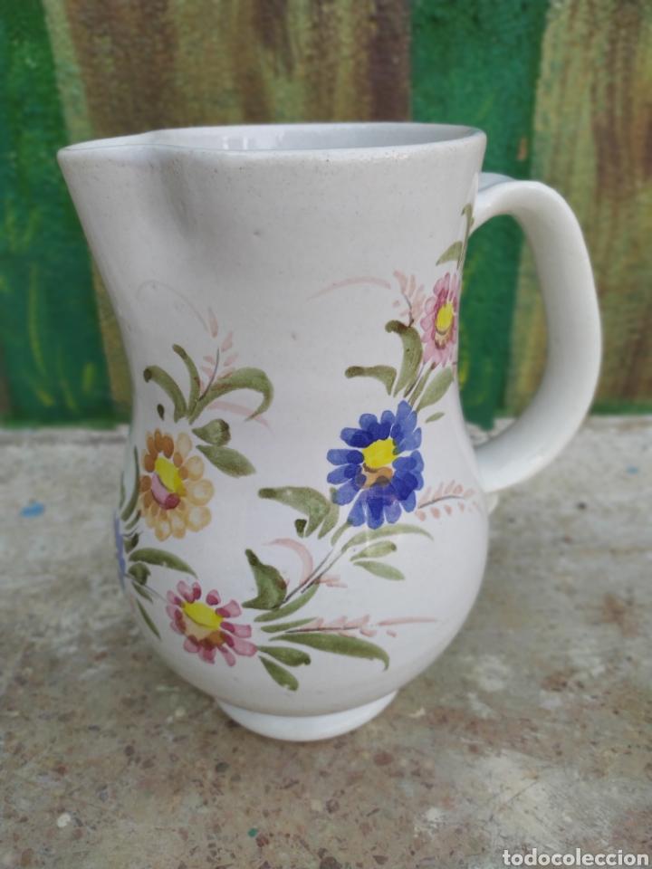 JARRA DE AGUA FLORES (Antigüedades - Porcelanas y Cerámicas - Otras)
