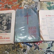 Antigüedades: LOTE LA DEVOCIÓN AL CORAZÓN DE JESÚS, NUEVA SEMANA SANTA Y LA MISA ES.... Lote 171194602