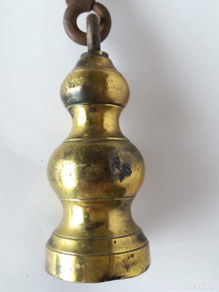 Antigüedades: PESA DE ROMANA EN BRONCE - Foto 4 - 171200572