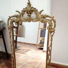 Antigüedades: ESPEJO DE BRONCE PRECIOSO. Lote 171201638