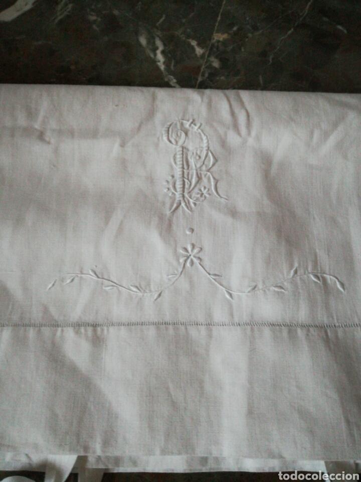 Antigüedades: Antiguo juego de sábanas en hilo - Foto 4 - 171204073