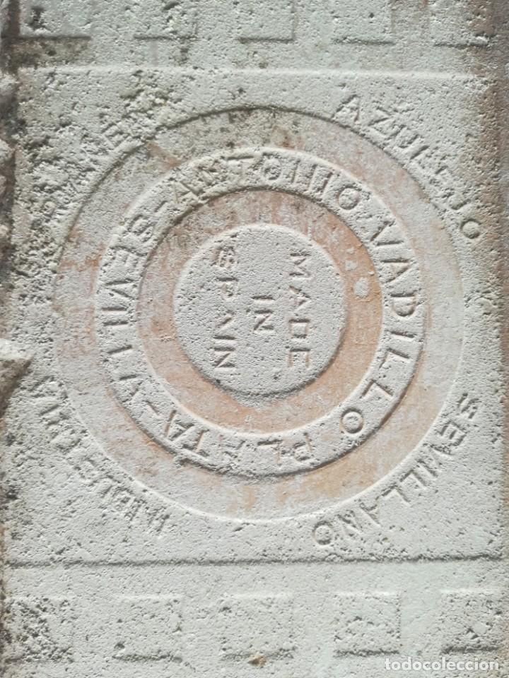 Antigüedades: AZULEJO CUERDA SECA ANTONIO VADILLO PLATA SEVILLA - Foto 4 - 171204693