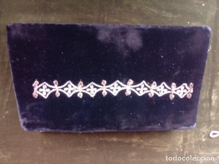 Antigüedades: Bolso de mano antiguo bordado en oro - Foto 2 - 171222415