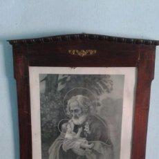 Antigüedades: GENUINO MARCO ÉPOCA MODERNISTA CON LÁMINA . Lote 171225574