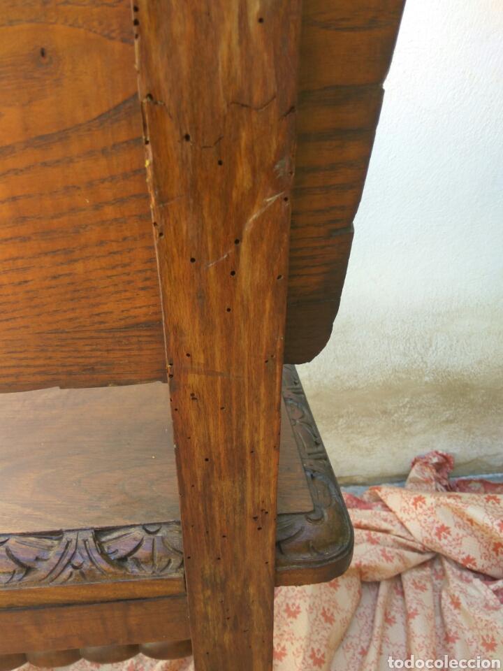 Antigüedades: SILLÓN MADERA FALANGE JOSÉ ANTONIO, TALLADO Y TORNEADO A MANO VER FOTOS Y DESCRIPCIÓN - Foto 10 - 171229123