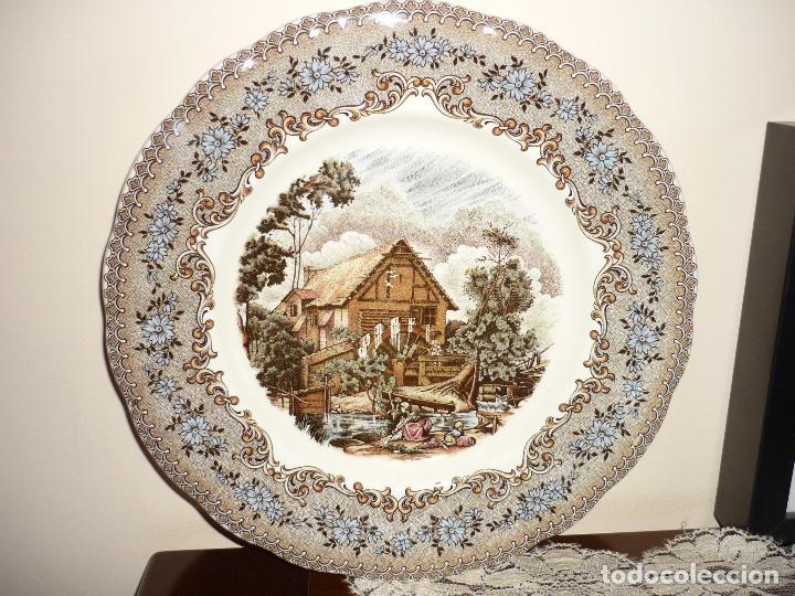 PRECIOSO PLATO DE CERÁMICA PICKMAN - LA CARTUJA DE SEVILLA - (25,50 CMS) (Antigüedades - Porcelanas y Cerámicas - La Cartuja Pickman)
