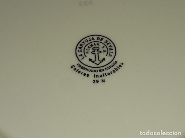 Antigüedades: PRECIOSO PLATO DE CERÁMICA PICKMAN - LA CARTUJA DE SEVILLA - (25,50 CMS) - Foto 3 - 171231279