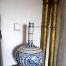 Antigüedades: GRAN FLORERO O JARRÓN CERÁMICA TALAVERA , LA MENORA. Lote 171232798