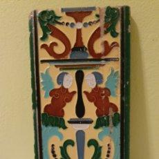 Antigüedades: PRECIOSO AZULEJO FABRICADO POR MENSAQUE S.XIX. Lote 169982080