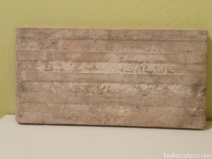 Antigüedades: PRECIOSO AZULEJO FABRICADO POR MENSAQUE S.XIX - Foto 5 - 169982080