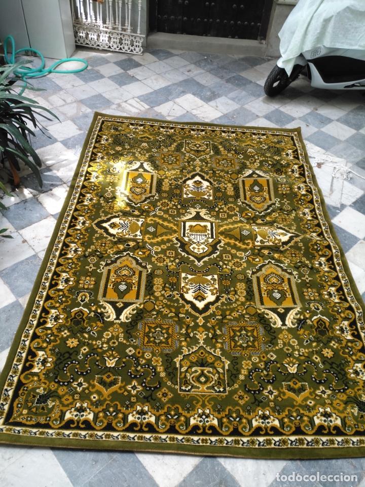 Antigüedades: GRAN alfombra verde oliva 292 x 198 CM IDEAL ALTAR DE CULTOS SEMANA SANTA VIRGEN ESPERAZA VERA-CRUZ - Foto 2 - 171239793