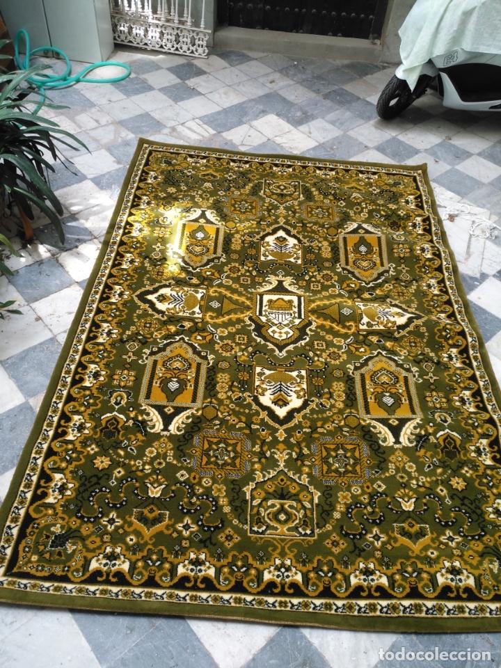 Antigüedades: GRAN alfombra verde oliva 292 x 198 CM IDEAL ALTAR DE CULTOS SEMANA SANTA VIRGEN ESPERAZA VERA-CRUZ - Foto 3 - 171239793