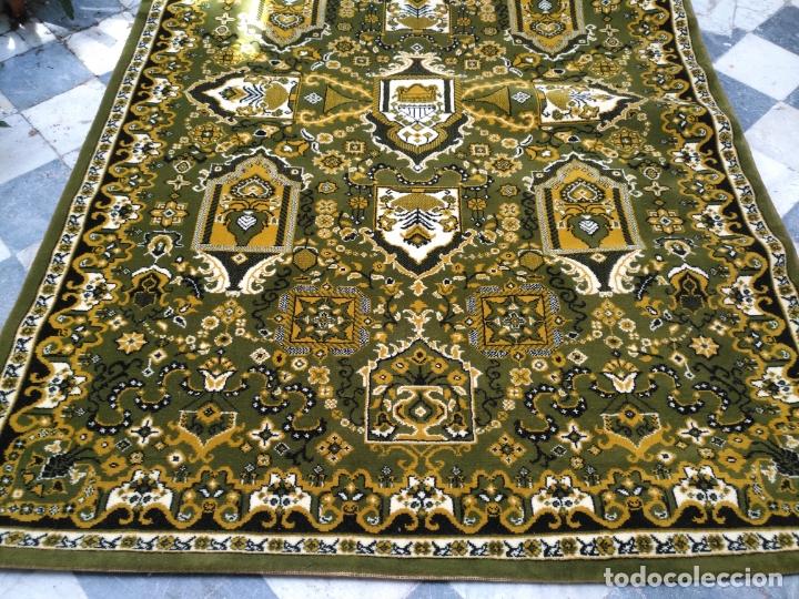 Antigüedades: GRAN alfombra verde oliva 292 x 198 CM IDEAL ALTAR DE CULTOS SEMANA SANTA VIRGEN ESPERAZA VERA-CRUZ - Foto 4 - 171239793
