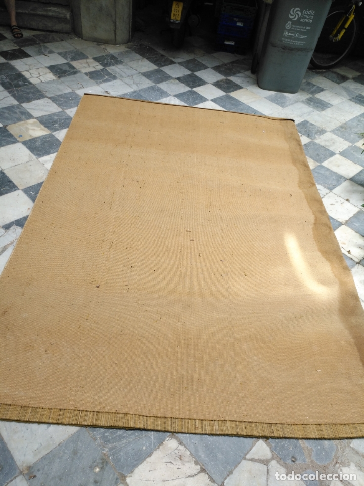 Antigüedades: GRAN alfombra verde oliva 292 x 198 CM IDEAL ALTAR DE CULTOS SEMANA SANTA VIRGEN ESPERAZA VERA-CRUZ - Foto 6 - 171239793