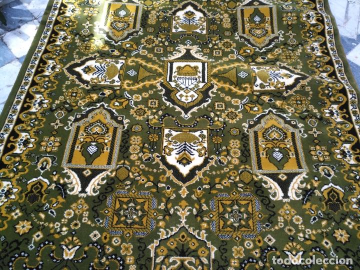 Antigüedades: GRAN alfombra verde oliva 292 x 198 CM IDEAL ALTAR DE CULTOS SEMANA SANTA VIRGEN ESPERAZA VERA-CRUZ - Foto 8 - 171239793