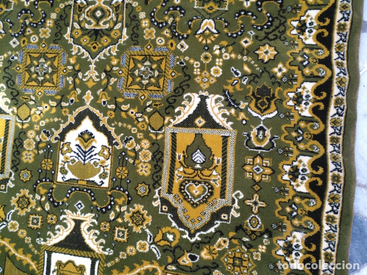 Antigüedades: GRAN alfombra verde oliva 292 x 198 CM IDEAL ALTAR DE CULTOS SEMANA SANTA VIRGEN ESPERAZA VERA-CRUZ - Foto 10 - 171239793