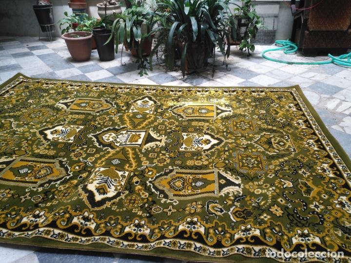 Antigüedades: GRAN alfombra verde oliva 292 x 198 CM IDEAL ALTAR DE CULTOS SEMANA SANTA VIRGEN ESPERAZA VERA-CRUZ - Foto 13 - 171239793