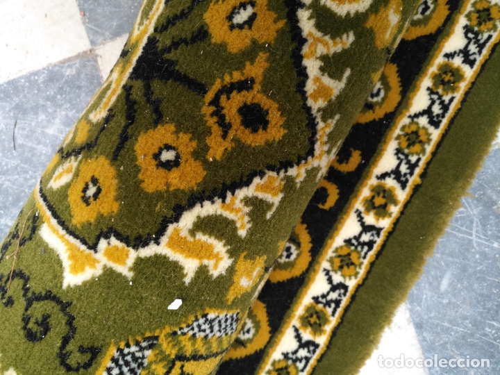 Antigüedades: GRAN alfombra verde oliva 292 x 198 CM IDEAL ALTAR DE CULTOS SEMANA SANTA VIRGEN ESPERAZA VERA-CRUZ - Foto 14 - 171239793