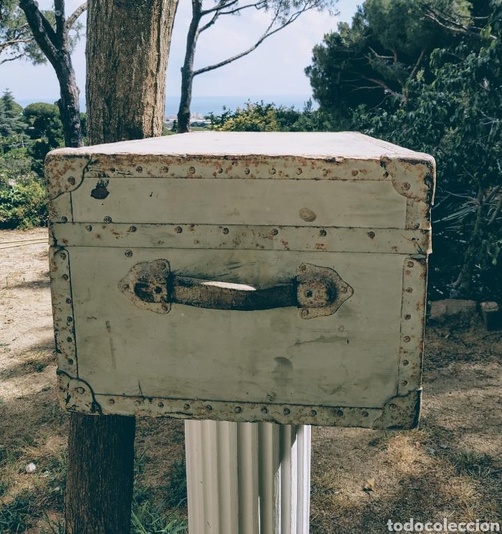 Antigüedades: Gran Bagul Antiguo de tono Turquesa ANTIQUE UNIQUE - Foto 3 - 171240089