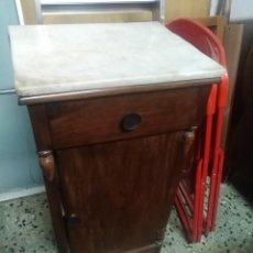 Antigüedades: ANTIGUO MUEBLE AUXILIAR CON MARMOL ORIGINAL DE LAVABO. Lote 171246322