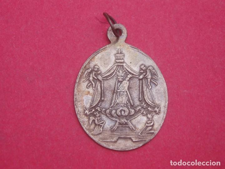 MEDALLA SIGLO XIX PLATA VIRGEN DEL VINYET. PATRONA DE SITGES. BARCELONA. MUY DIFÍCIL. (Antigüedades - Religiosas - Medallas Antiguas)