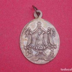 Antigüedades: MEDALLA SIGLO XIX PLATA VIRGEN DEL VINYET. PATRONA DE SITGES. BARCELONA. MUY DIFÍCIL.. Lote 171262930