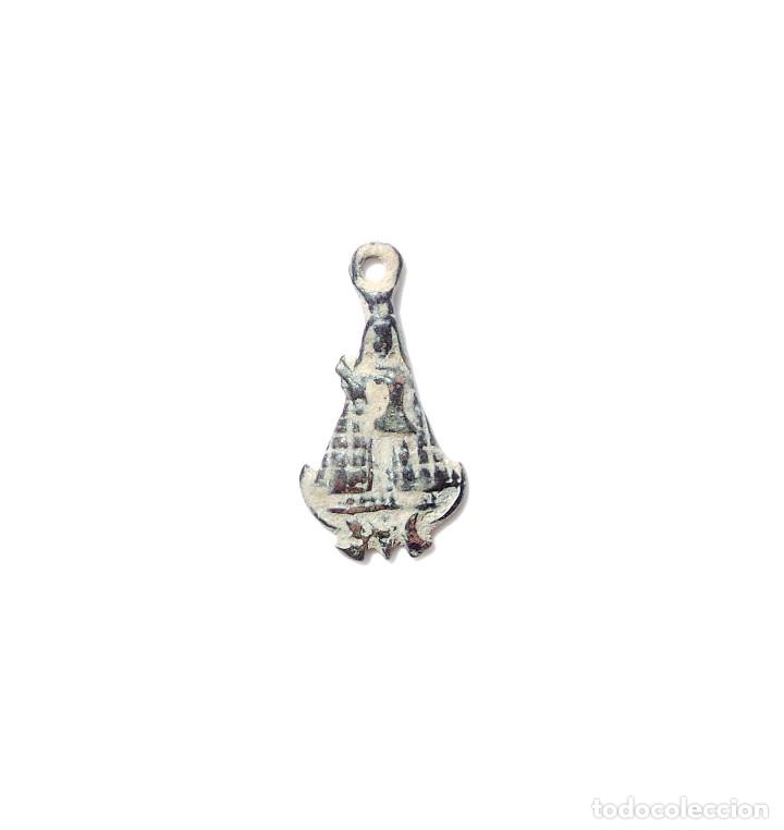 MEDALLA RELIGIOSA, VIRGEN SIGLO XVIII. GUADALUPE. (Antigüedades - Religiosas - Medallas Antiguas)