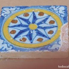 Antigüedades: AZULEJO ANTIGUO DE TALAVERA DE LA REINA ( TOLEDO ) HOLAMBRILLA - TECNICA LISA - SIGLO XVII.. Lote 171274092