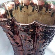 Antigüedades: ANTIGUA MACETA DE CERÁMICA DE REFLEJOS. (TRIANA, SEVILLA SOBRE 1.920) . Lote 171279829