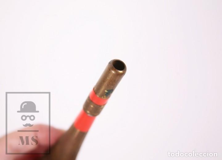 Antigüedades: Antigua Trompetilla / Reclamo para Caza - Latón / Metal - Longitud 12,5 cm - Foto 4 - 171304634