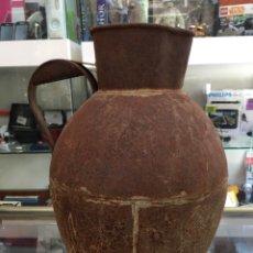 Antigüedades: ANTIGUO CANTARO METALICO PRINCIPIOS DEL XX. Lote 171310895
