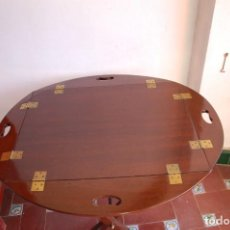 Antigüedades: MESA BARCO CAOBA. Lote 171312875