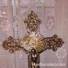 Antigüedades: CRUCIFIJO DE BRONCE. Lote 171320643