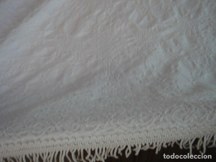 Antigüedades: colcha de pique brocado mide 240 por 210 nueva - Foto 11 - 171341350