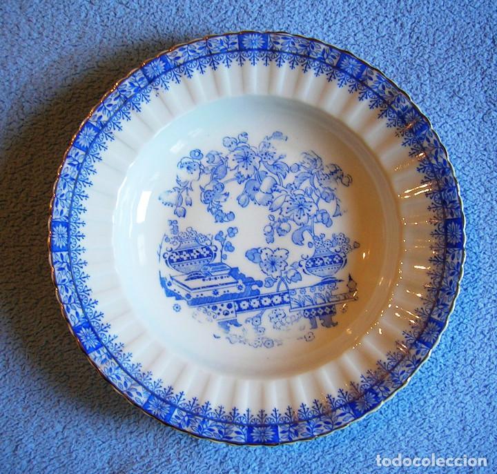 PLATO PORCELANA SANTA CLARA, HONDO Y GRANDE CON 24 CMS. DIAMETRO. COCINA (Antigüedades - Porcelanas y Cerámicas - Santa Clara)