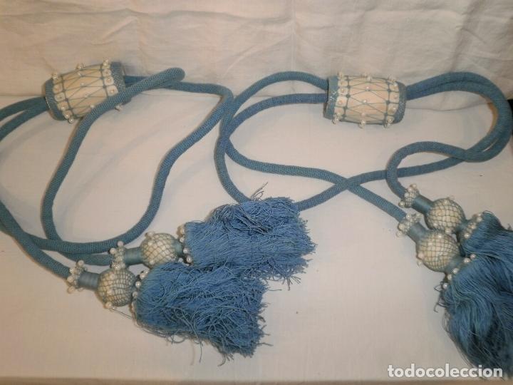 2 ANTIGUOS BORDONES PARA CORTINAS DE ALGODON (Antigüedades - Hogar y Decoración - Cortinas Antiguas)