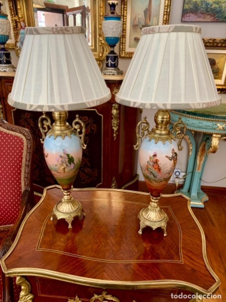 Antigüedades: Maravillosa pareja de Lámparas francesas - Foto 4 - 171346419