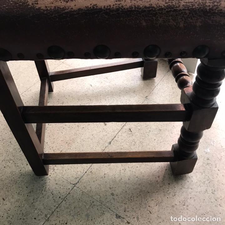 Antigüedades: Lote 6 sillas comedor madera maciza vintage - Foto 5 - 171347478