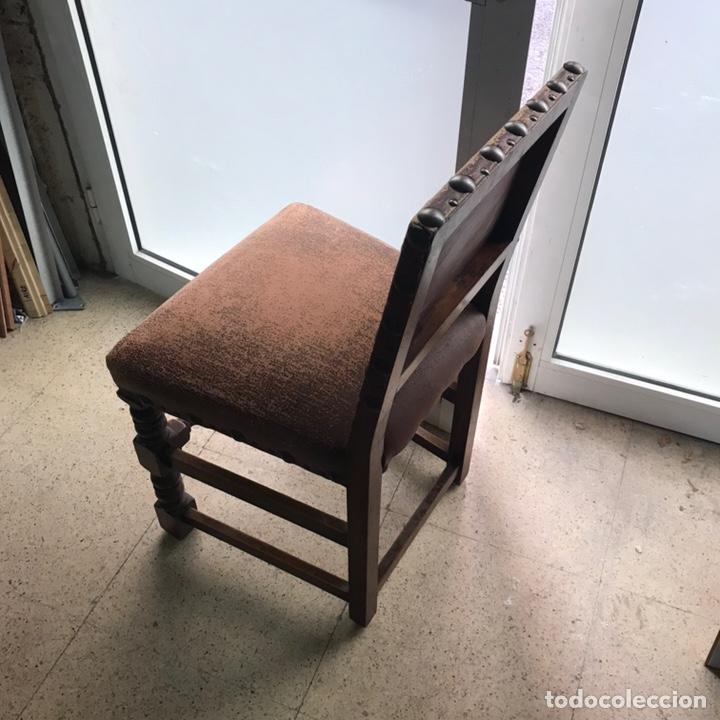Antigüedades: Lote 6 sillas comedor madera maciza vintage - Foto 6 - 171347478