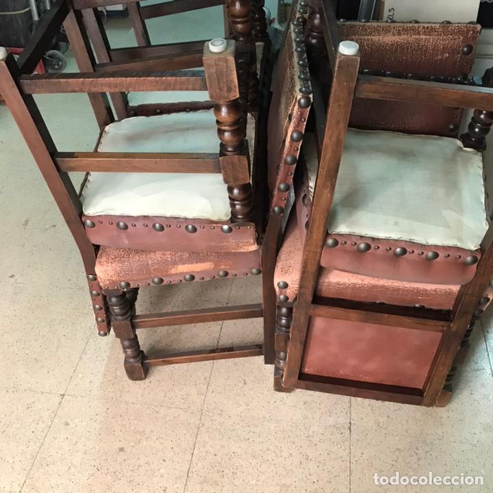 Antigüedades: Lote 6 sillas comedor madera maciza vintage - Foto 7 - 171347478