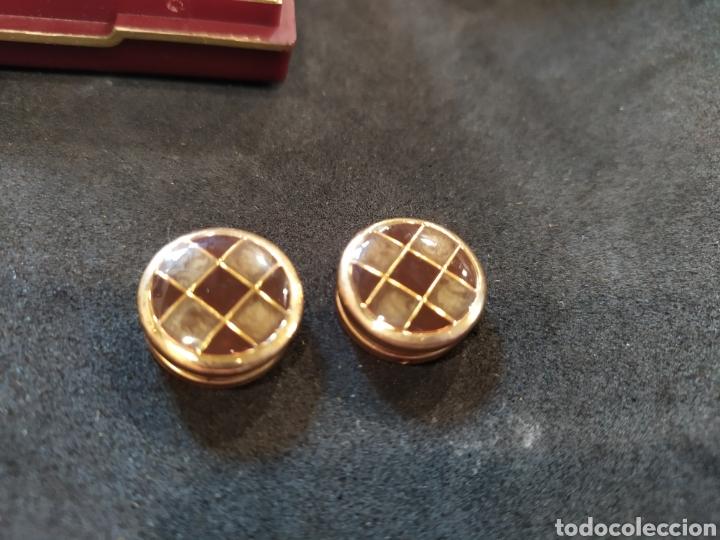 Antigüedades: Cubre botones y alfiler de corbata. Esmaltado y dorado - Foto 4 - 171350165