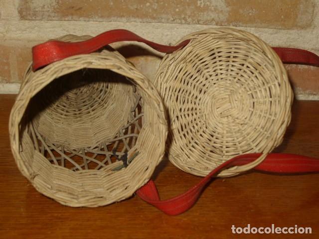 Antigüedades: ANTIGUO PORTA VASOS DE MIMBRE .BALNEARIO - Foto 5 - 171351207