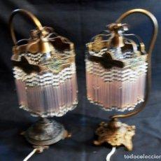 Antigüedades: 2 LAMPARAS DE MESA ESTILO MODERNISTA, MUY ANTIGUAS. Lote 178399255