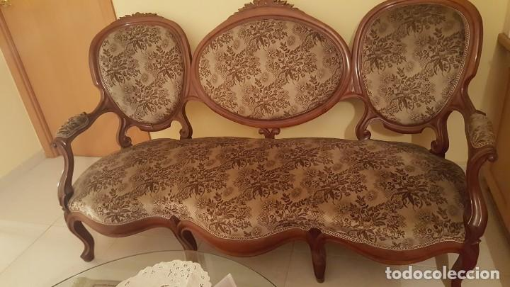 TRESILLO CAOBA (Antigüedades - Muebles Antiguos - Sofás Antiguos)