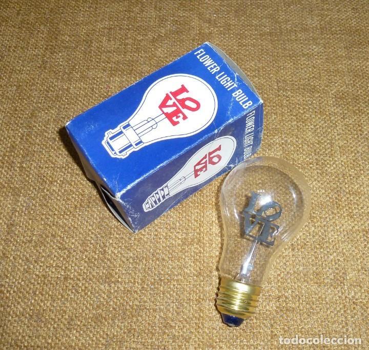 Antigüedades: Bombilla incandescente retro vintage - LOVE - FLOWER LIGHT BULB FL-2735. - Foto 2 - 170460820