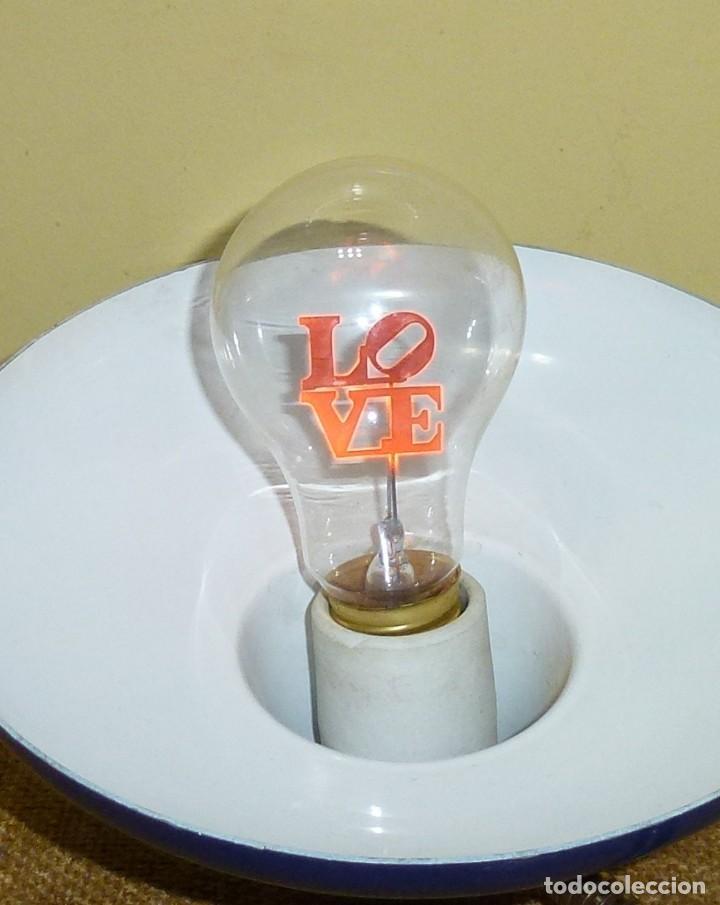 Antigüedades: Bombilla incandescente retro vintage - LOVE - FLOWER LIGHT BULB FL-2735. - Foto 4 - 170460820