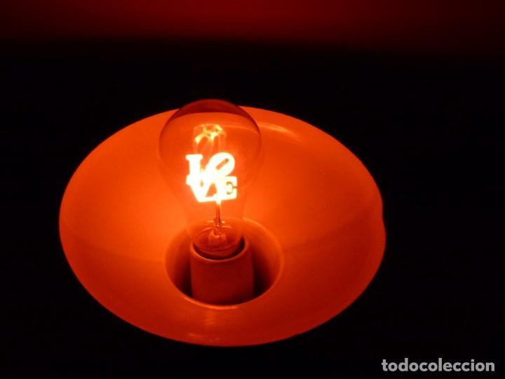 BOMBILLA INCANDESCENTE RETRO VINTAGE - LOVE - FLOWER LIGHT BULB FL-2735. (Antigüedades - Iluminación - Otros)
